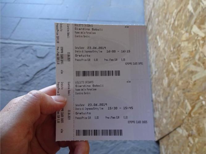 フィレンツェ ボーボリ庭園チケット