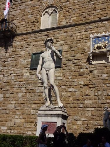 フィレンツェ シニョーリア広場 ダビデ像