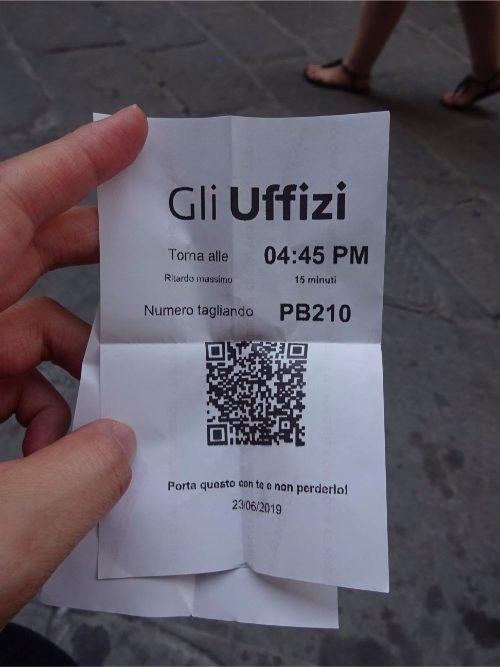 ウッフィツィ 美術館 無料入場整理券