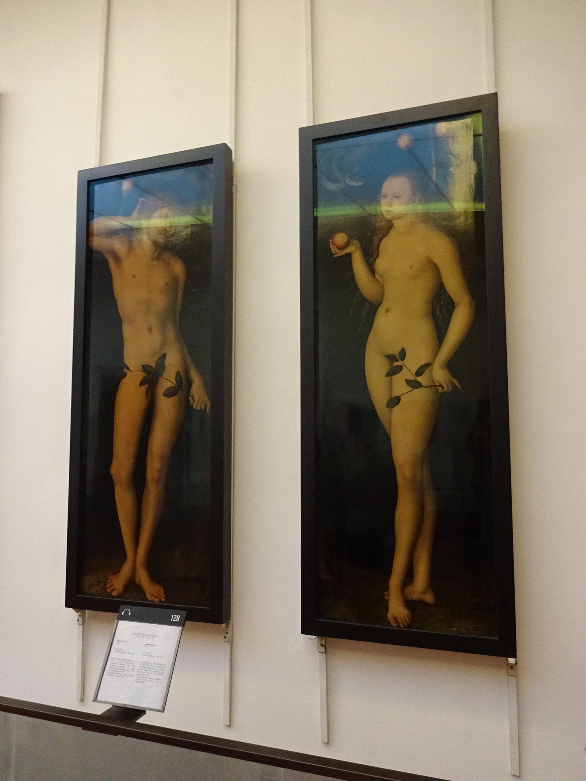 ウッフィツィ美術館 アダムとイブ
