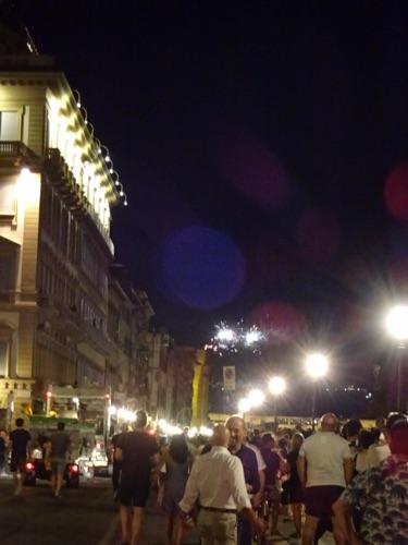 夜のフィレンツェ 聖ジョヴァンニの日の花火