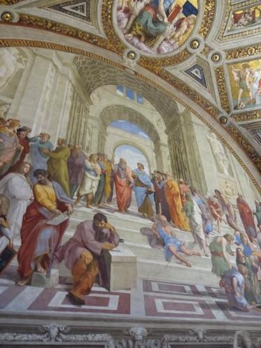 バチカン博物館 アテナイの学堂