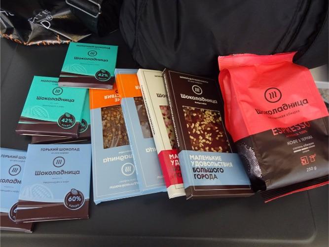 モスクワ空港 チョコレートとコーヒー豆