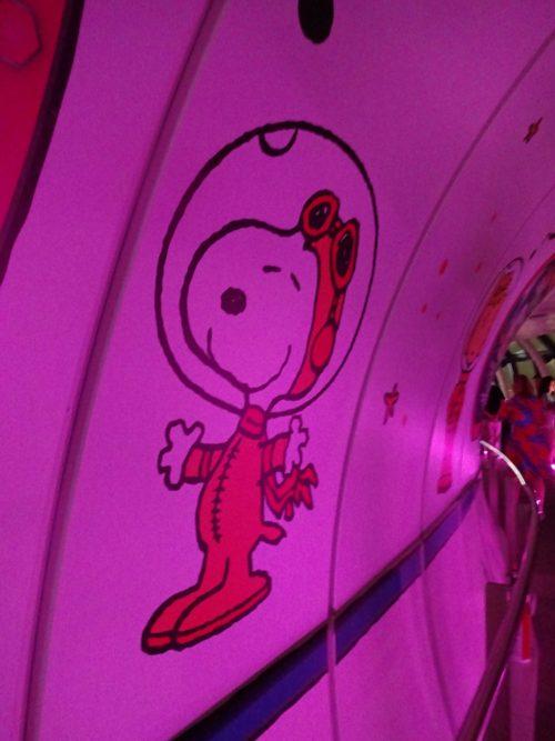 スカイツリーとスヌーピーがコラボ!First beagle in skytree 展望回廊