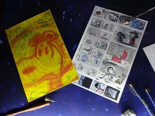 スカイツリーとコラボしたPeanutsのデザイン画
