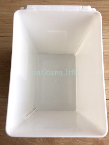 ダイソー フタ付きボックス シンプルな白!