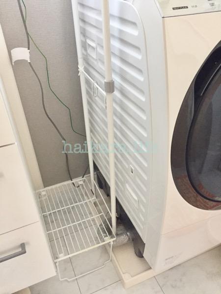 洗面台と洗濯機の隙間